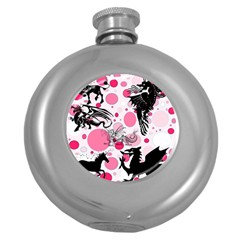 Fantasy In Pink Hip Flask (Round)