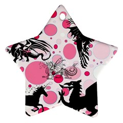 Fantasy In Pink Star Ornament (Two Sides)