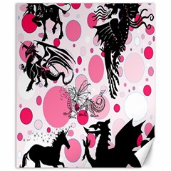 Fantasy In Pink Canvas 8  x 10  (Unframed)