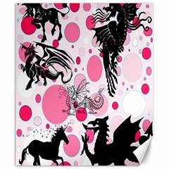 Fantasy In Pink Canvas 20  X 24  (unframed)