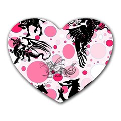 Fantasy In Pink Mouse Pad (heart)