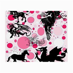 Fantasy In Pink Glasses Cloth (small, Two Sided)