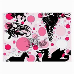 Fantasy In Pink Glasses Cloth (large, Two Sided)