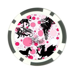 Fantasy In Pink Poker Chip