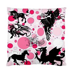 Fantasy In Pink Cushion Case (Two Sided)
