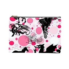 Fantasy In Pink Cosmetic Bag (large)