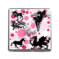 Fantasy In Pink Memory Card Reader With Storage (square)
