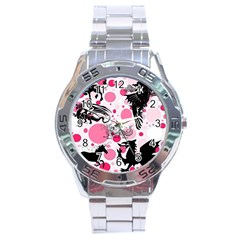 Fantasy In Pink Stainless Steel Watch