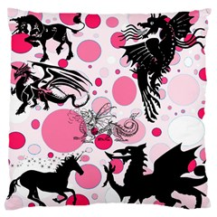 Fantasy In Pink Large Cushion Case (two Sided)
