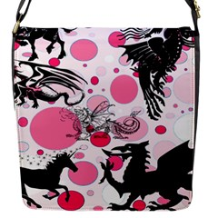 Fantasy In Pink Flap Closure Messenger Bag (Small)