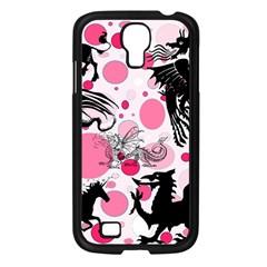 Fantasy In Pink Samsung Galaxy S4 I9500/ I9505 Case (black)