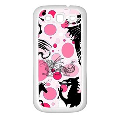 Fantasy In Pink Samsung Galaxy S3 Back Case (White)