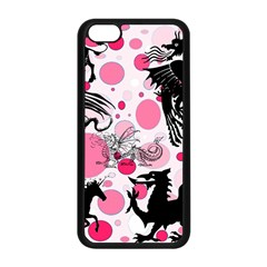 Fantasy In Pink Apple iPhone 5C Seamless Case (Black)