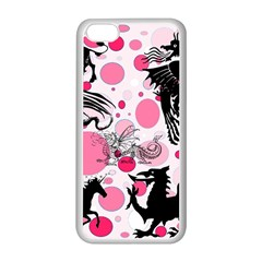 Fantasy In Pink Apple iPhone 5C Seamless Case (White)