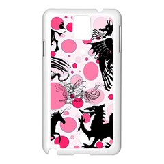 Fantasy In Pink Samsung Galaxy Note 3 N9005 Case (White)