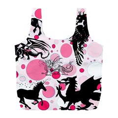 Fantasy In Pink Reusable Bag (L)