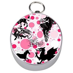 Fantasy In Pink Silver Compass