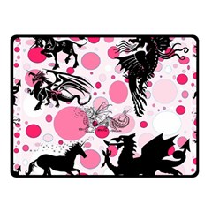 Fantasy in Pink Fleece Blanket (Small)