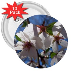 Cherry Blossoms 3  Button (10 Pack)