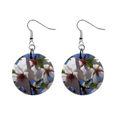 Cherry Blossoms Mini Button Earrings