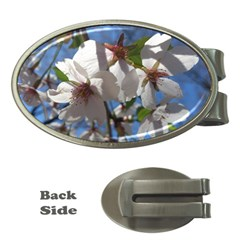 Cherry Blossoms Money Clip (Oval)