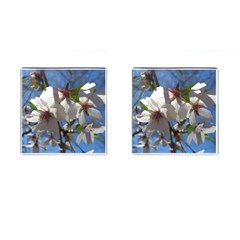 Cherry Blossoms Cufflinks (Square)