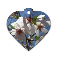 Cherry Blossoms Dog Tag Heart (one Sided)