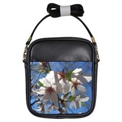 Cherry Blossoms Girl s Sling Bag