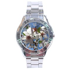 Cherry Blossoms Stainless Steel Watch