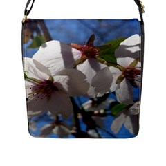 Cherry Blossoms Flap Closure Messenger Bag (Large)