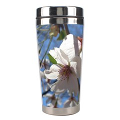 Cherry Blossoms Stainless Steel Travel Tumbler