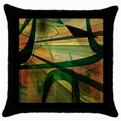 Untitled Black Throw Pillow Case