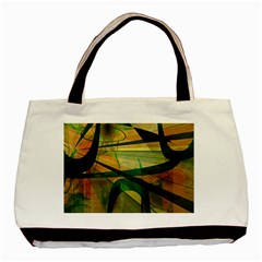 Untitled Twin-sided Black Tote Bag