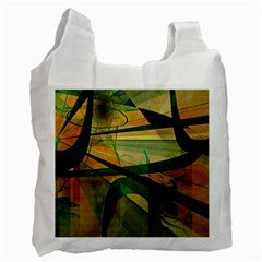 Untitled White Reusable Bag (One Side)