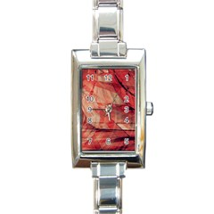 Grey And Red Rectangular Italian Charm Watch