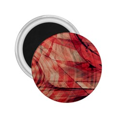 Grey And Red 2.25  Button Magnet