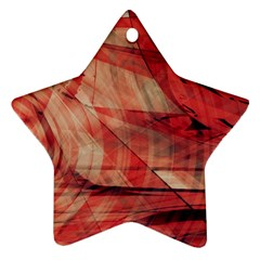 Grey And Red Star Ornament