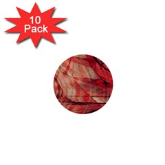 Grey And Red 1  Mini Button (10 pack)
