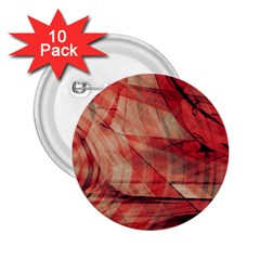 Grey And Red 2.25  Button (10 pack)