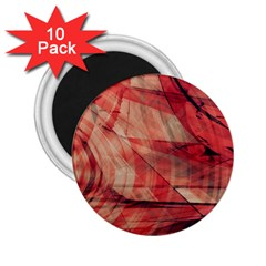 Grey And Red 2.25  Button Magnet (10 pack)