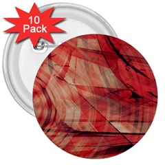 Grey And Red 3  Button (10 pack)
