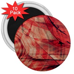 Grey And Red 3  Button Magnet (10 pack)