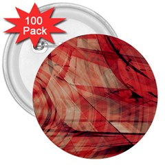 Grey And Red 3  Button (100 pack)