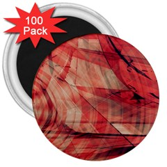 Grey And Red 3  Button Magnet (100 pack)