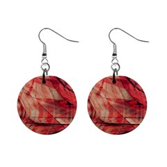 Grey And Red Mini Button Earrings