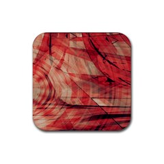 Grey And Red Drink Coaster (square)