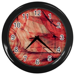 Grey And Red Wall Clock (Black)