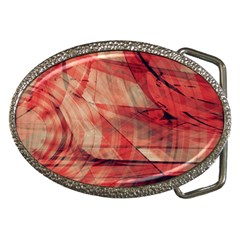 Grey And Red Belt Buckle (Oval)