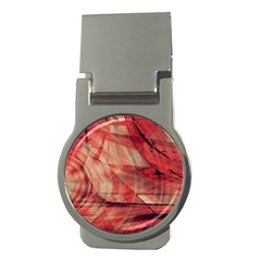 Grey And Red Money Clip (round)