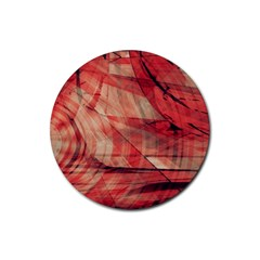 Grey And Red Drink Coasters 4 Pack (round)